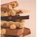 Plaquette de chocolat noirs aux noisettes